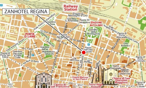 Location zanhotel regina hotel bologna for Hotel casalecchio bologna